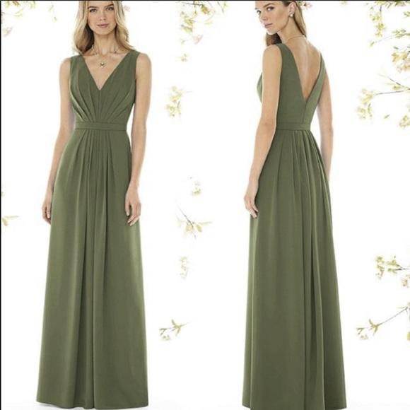 David\'s Bridal Dresses   Moss Green Dress   Poshmark